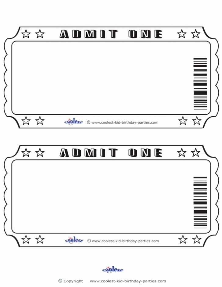 Ticket Template for Pages Luxury Ticket Template for Pages Printable Concert Ticket