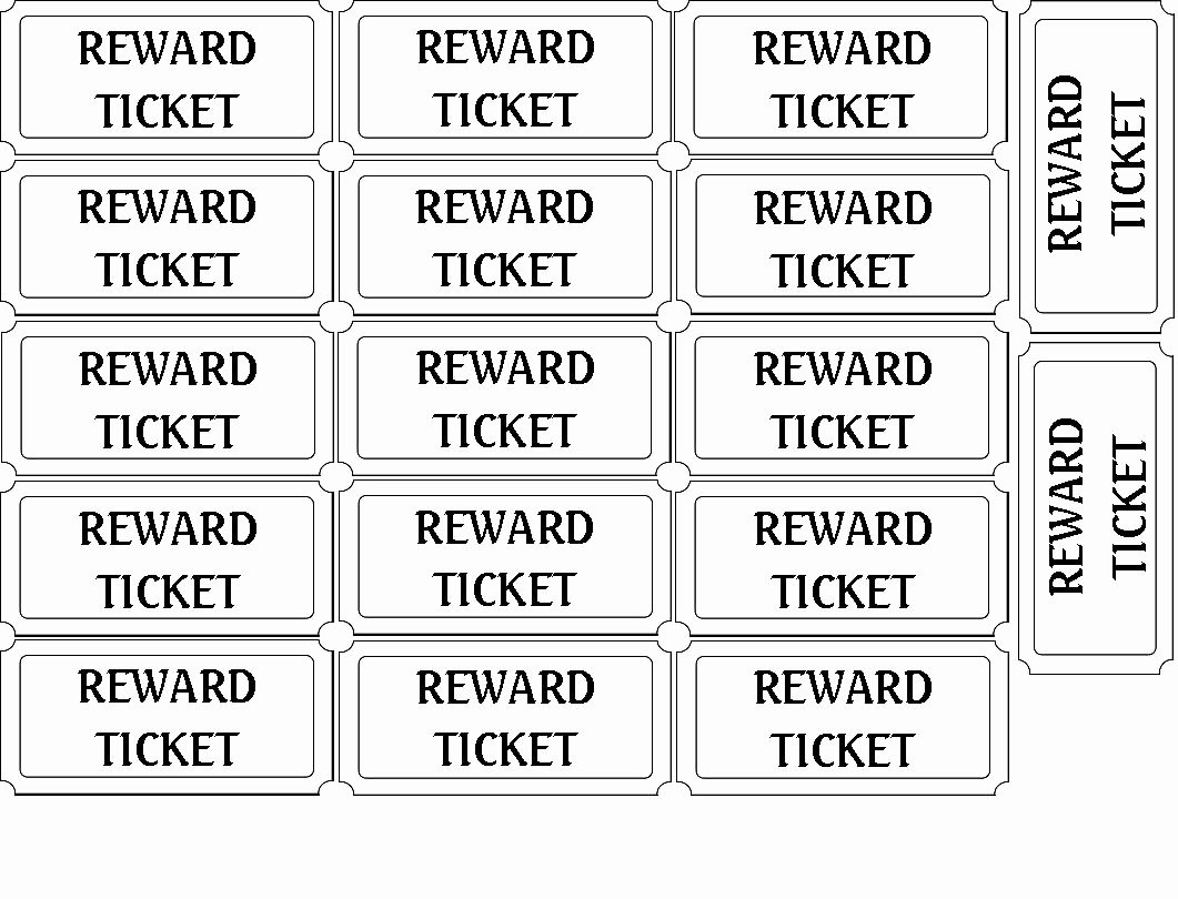 Ticket Template for Pages Unique 5 Best Of Printable Blank Tickets Free Printable