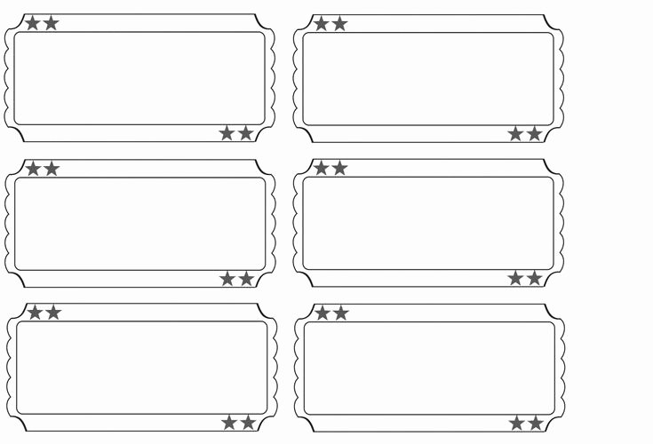 Ticket Template for Pages Unique Printable Raffle Tickets Blank Kids Google Search