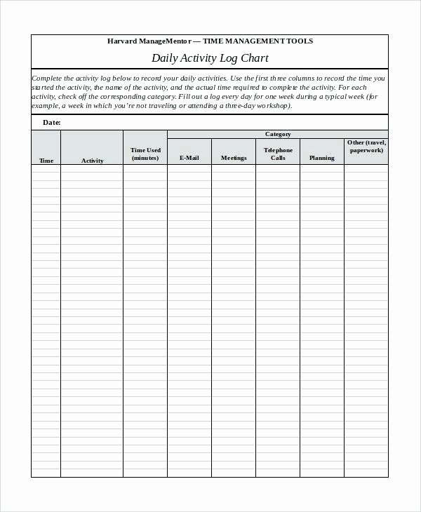 Time Management Log Template Awesome Time Management Templates Template Excel Full Size