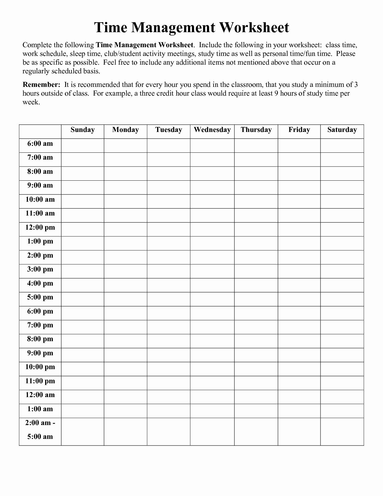 Time Management Log Template Awesome Time Management Worksheet Pdf sophia