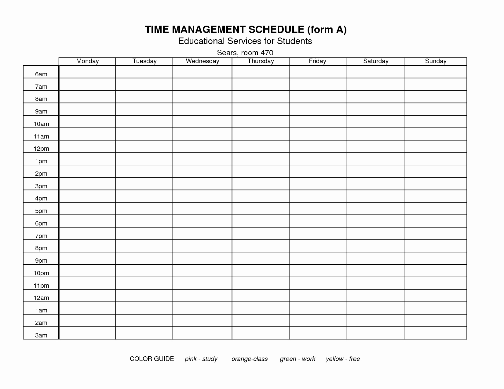 Time Management Log Template Best Of 7 Best Of Free Printable Time Management forms