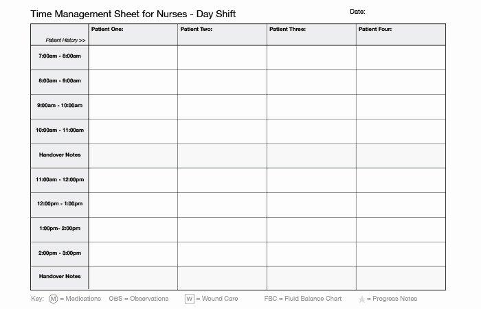 Time Management Log Template Elegant Time Management for Nurses