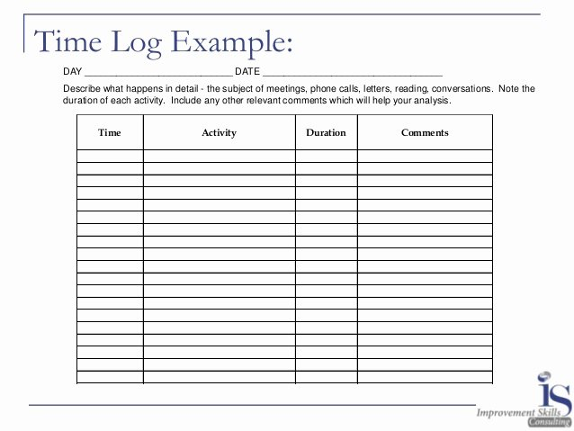 Time Management Log Template New Energy Law Of attraction Time Management Activity Log