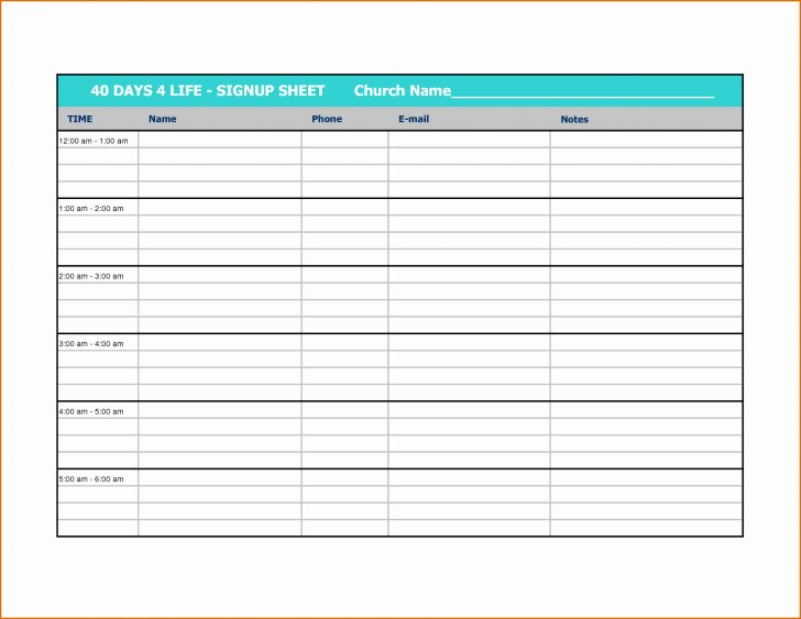 Time Sign Up Sheet Template Fresh Template Sign Up Sheet Template