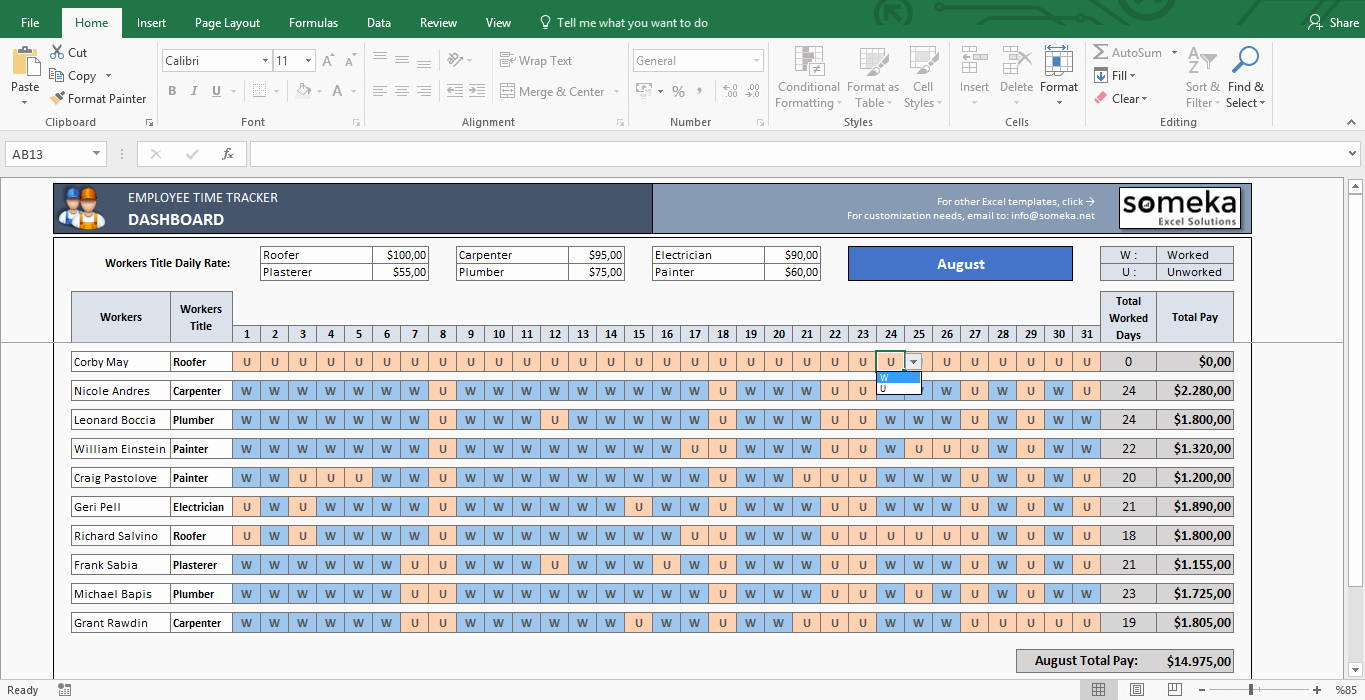 Time Tracking Excel Template Awesome Payroll Template Excel Timesheet Free Download