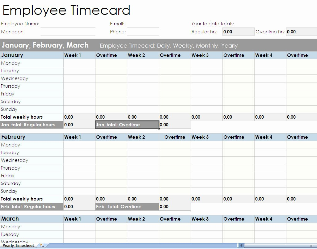 Time Tracking Excel Template Best Of Employee Timesheet Spreadsheet form Excel Templates