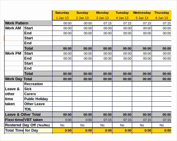 Time Tracking Excel Template Inspirational 12 Time Tracking Templates – Free Sample Example format