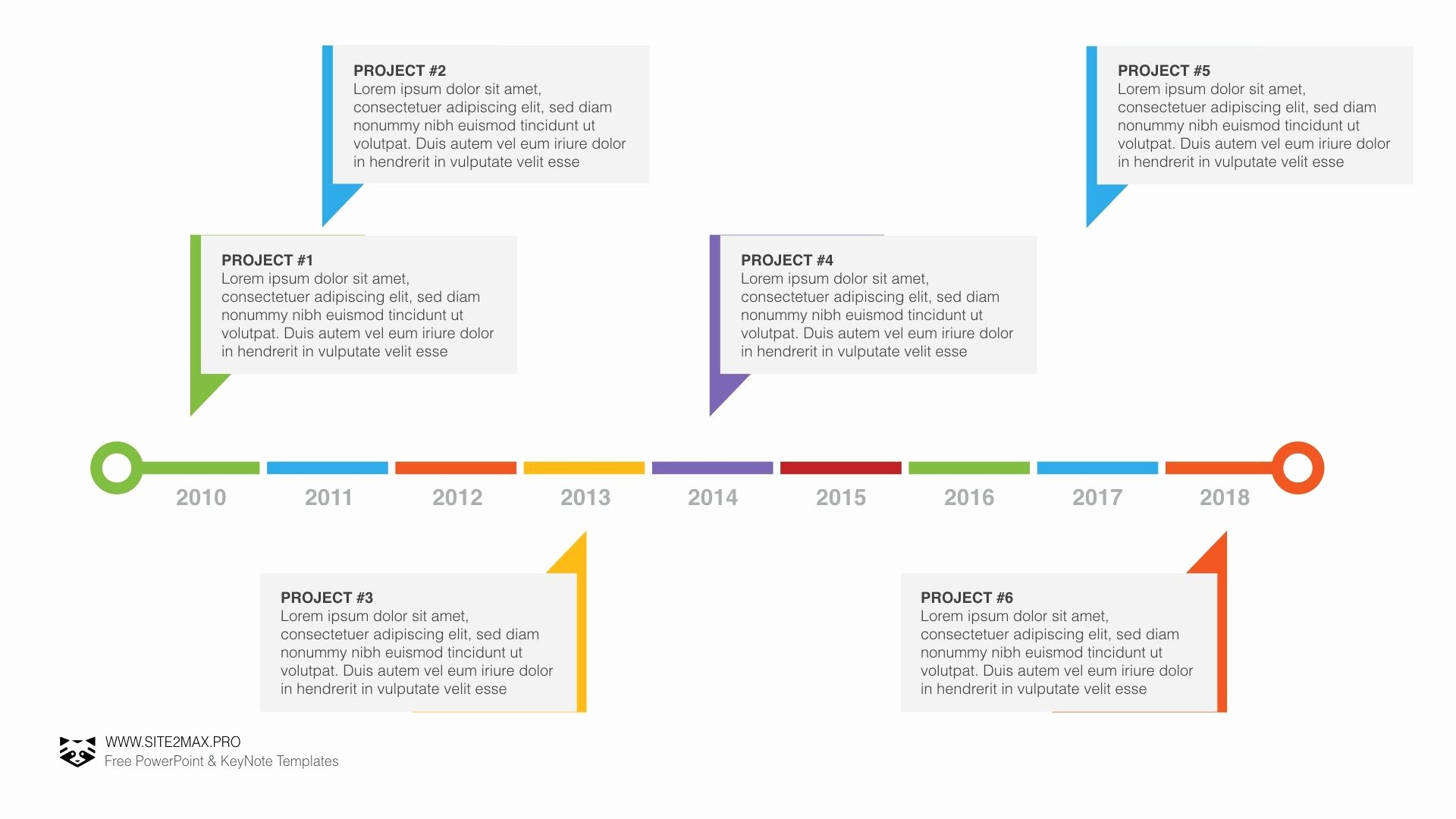 Timeline Ppt Template Free Awesome Timeline Free Keynote Template