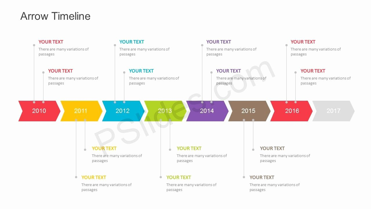 Timeline Ppt Template Free Best Of Free Arrow Timeline Powerpoint Template