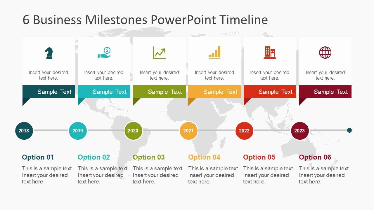 Timeline Ppt Template Free Elegant 6 Business Milestones Powerpoint Timeline Slidemodel
