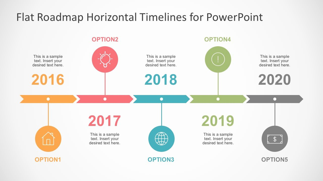Timeline Ppt Template Free Fresh Flat Timelines Powerpoint Templates