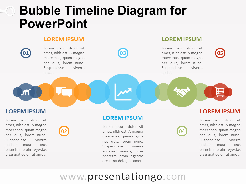 Timeline Ppt Template Free Inspirational Bubble Timeline Diagram for Powerpoint Presentationgo