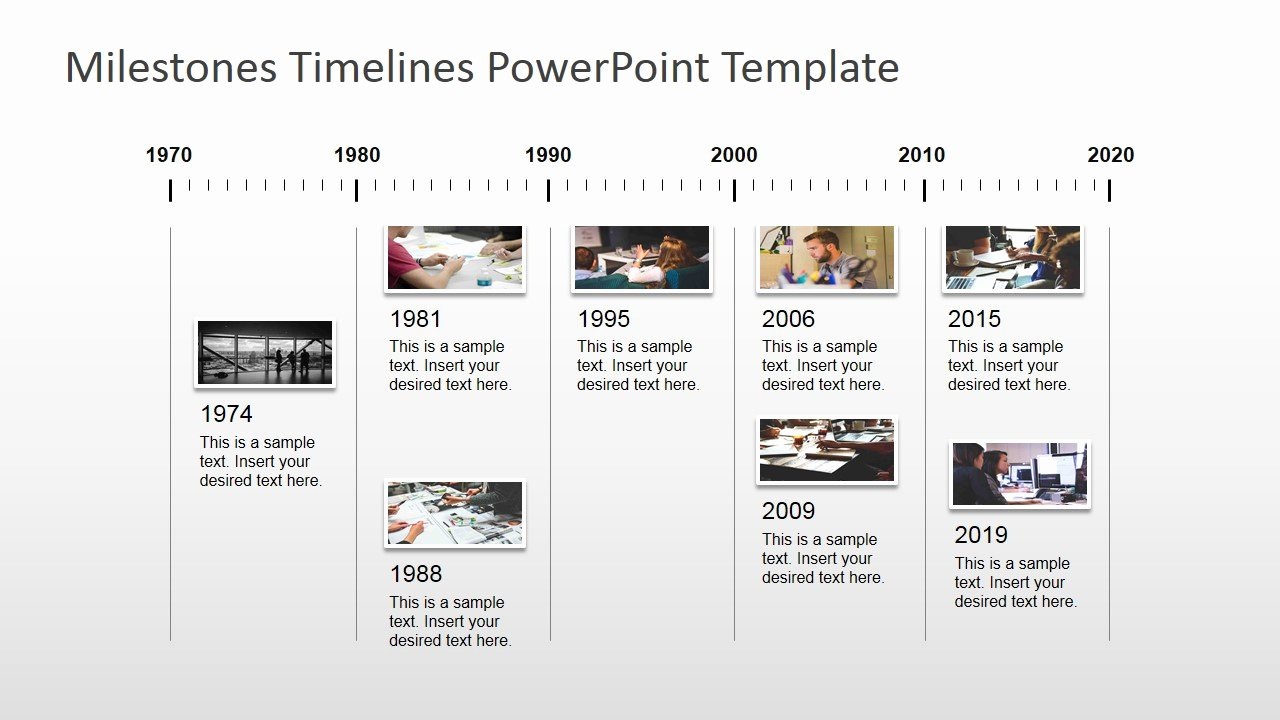 Timeline Ppt Template Free Inspirational Milestones Timeline Powerpoint Template Slidemodel