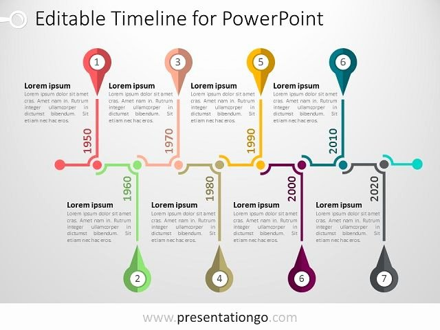 Timeline Ppt Template Free Inspirational Powerpoint Timeline Template Presentationgo