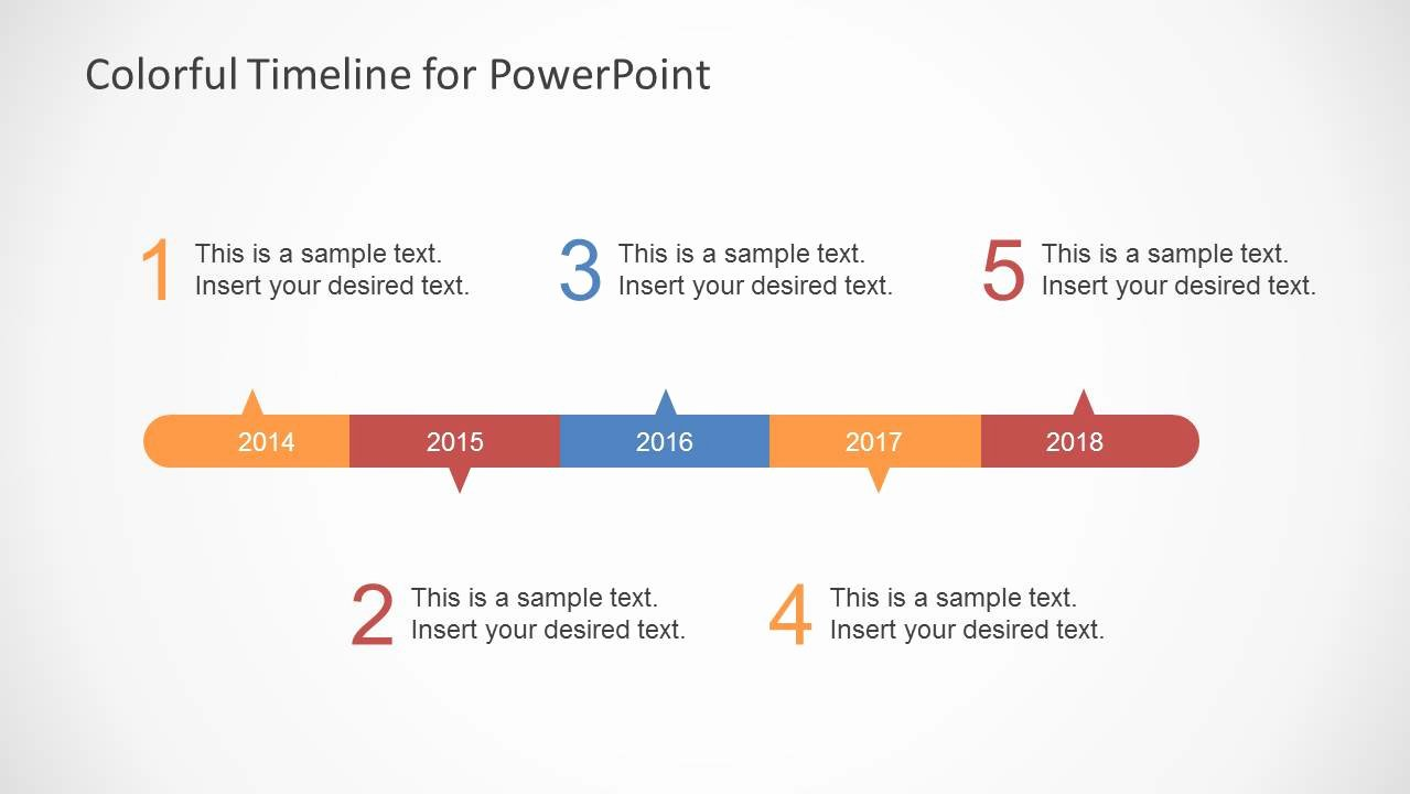 Timeline Ppt Template Free Lovely Colorful Timeline Template for Powerpoint Slidemodel