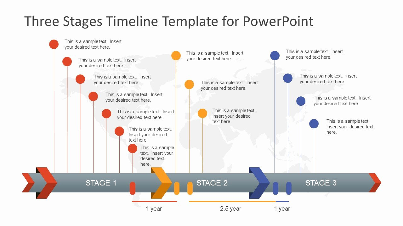 Timeline Ppt Template Free Luxury Three Stages Timeline Template for Powerpoint Slidemodel