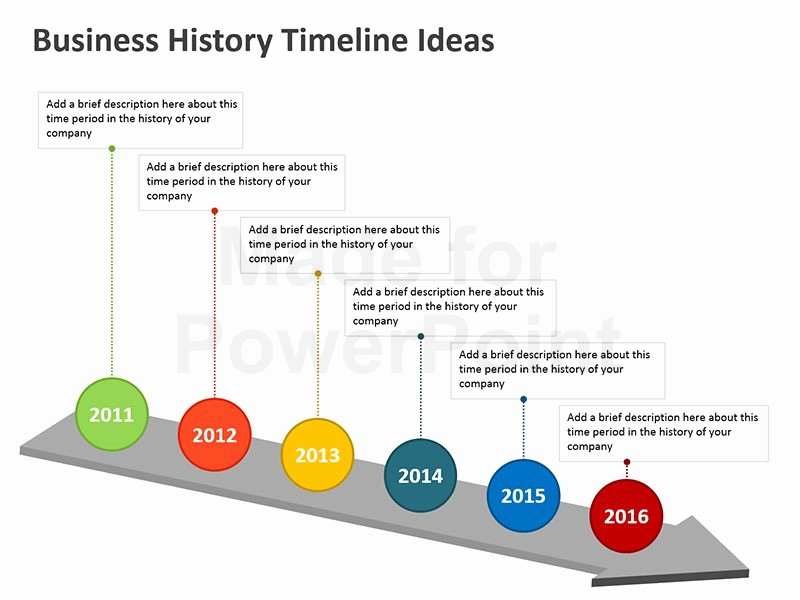 Timeline Ppt Template Free New Business History Timeline Templates