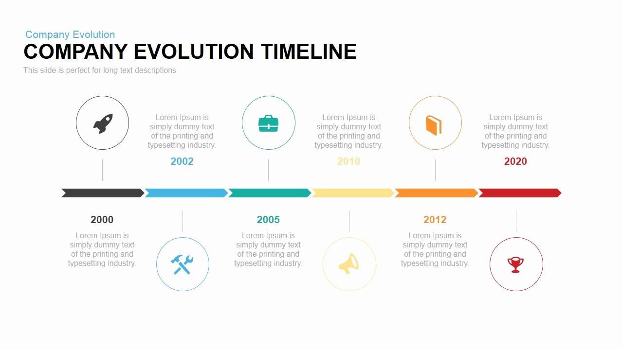 Timeline Ppt Template Free Unique Pany Evolution Timeline Powerpoint Template Slidebazaar