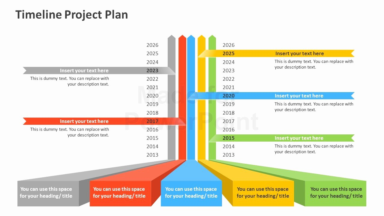 timeline project plan powerpoint template