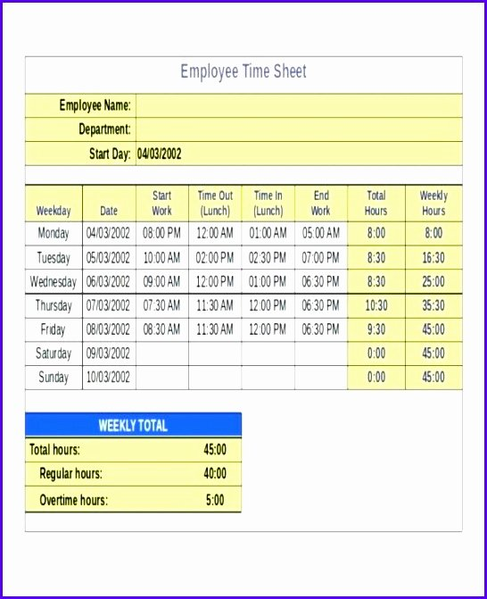 Timesheet Invoice Template Excel Fresh 8 Timesheet Excel Templates Exceltemplates Exceltemplates