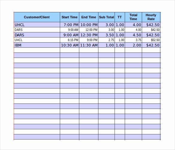 Timesheet Invoice Template Excel Fresh 8 Timesheet Invoice Templates & Samples Doc Pdf