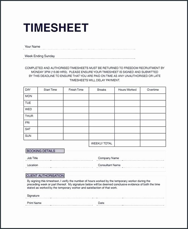 Timesheet Invoice Template Excel Luxury Bi Weekly Templates Free Sample Example format Intended