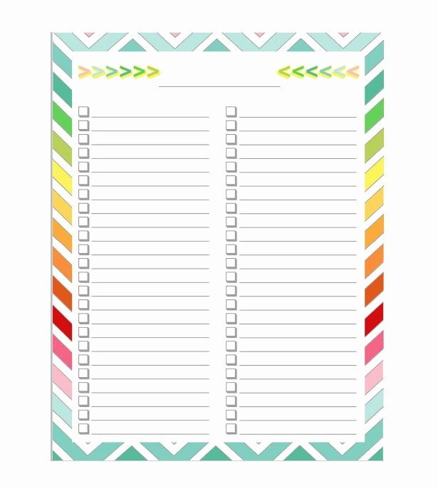 To Do Checklist Template Beautiful 51 Free Printable to Do List & Checklist Templates Excel