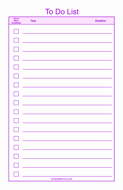To Do Checklist Template Best Of to Do Checklist Template 2