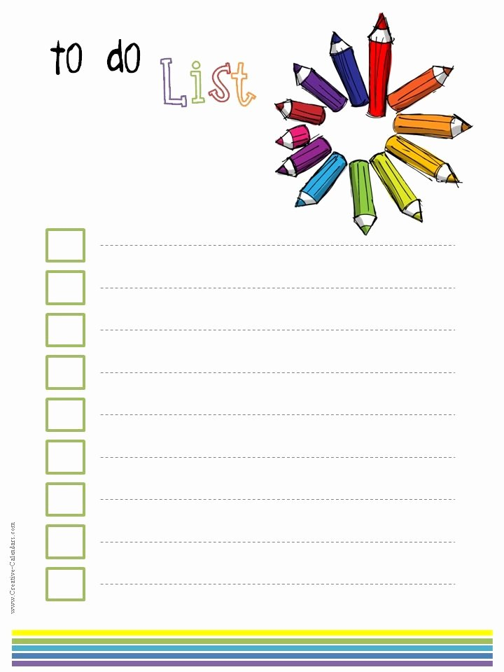 To Do Checklist Template Best Of to Do List Template