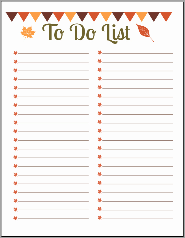 To Do Checklist Template Fresh 10 Printable to Do List Templates Excel Templates