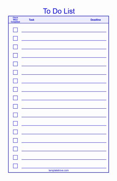 To Do Checklist Template Fresh to Do Checklist Template 2