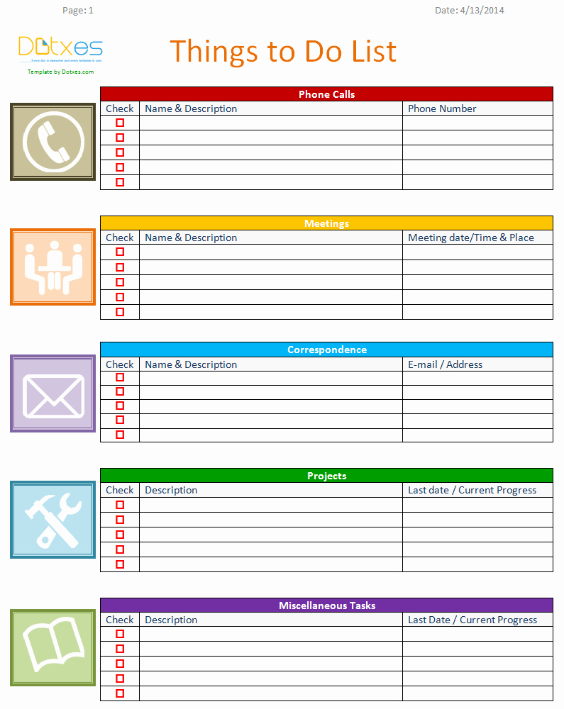To Do Checklist Template Fresh to Do List Template Business Version Dotxes