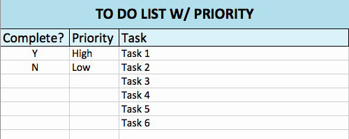 To Do Checklist Template Lovely Free to Do List Templates In Excel