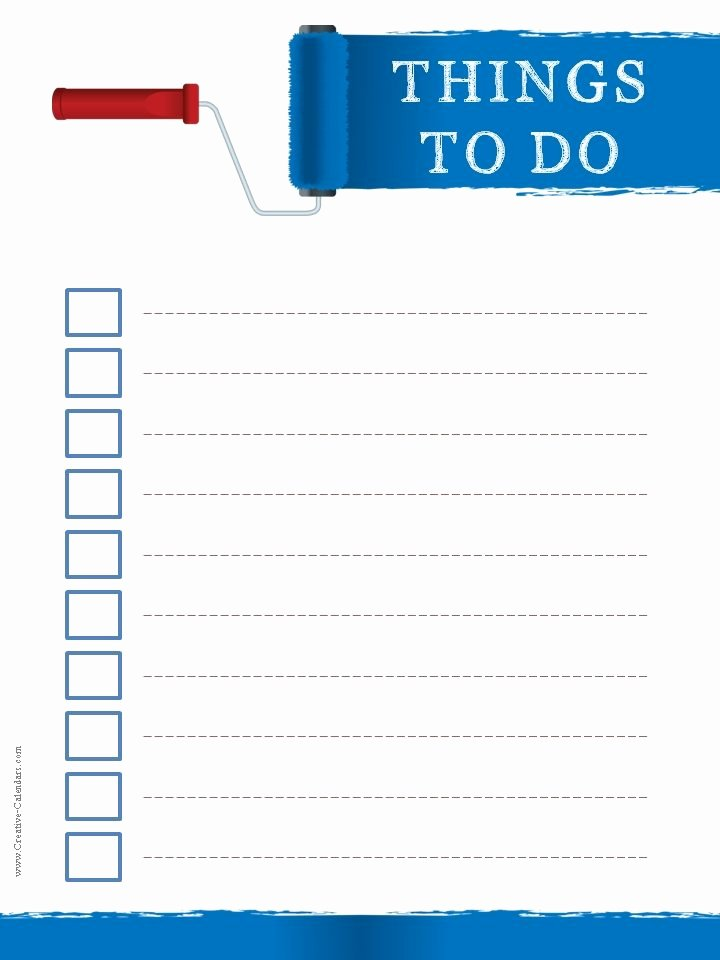 To Do Checklist Template Luxury to Do List Template