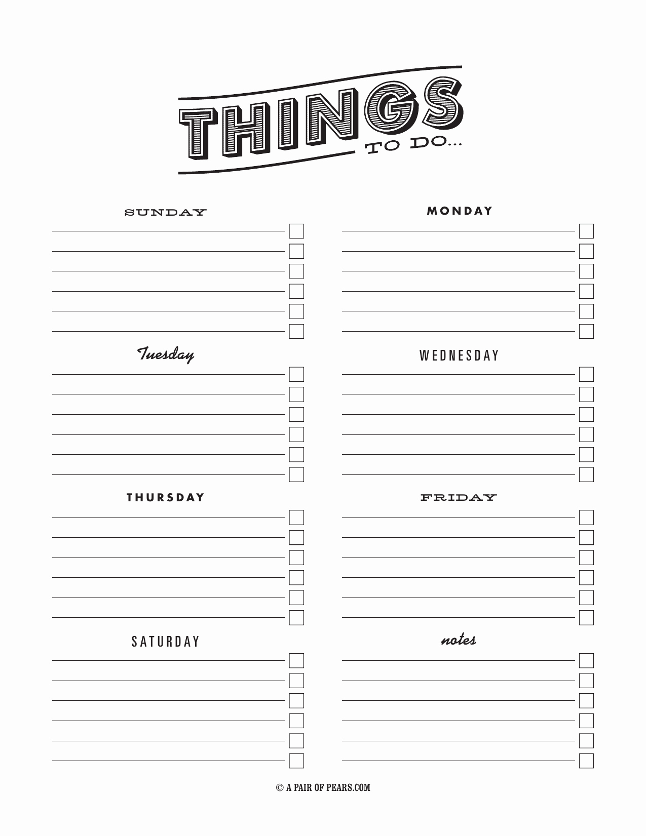 To Do Checklist Template New Download Weekly Checklist Template Excel Pdf