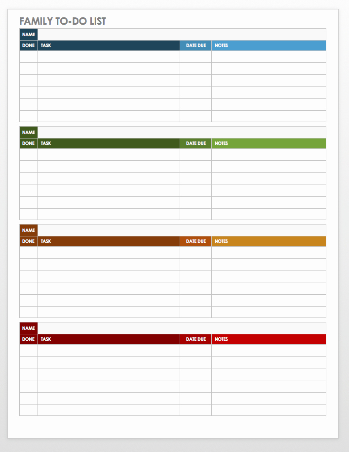 To Do Checklist Template Unique Free Task and Checklist Templates
