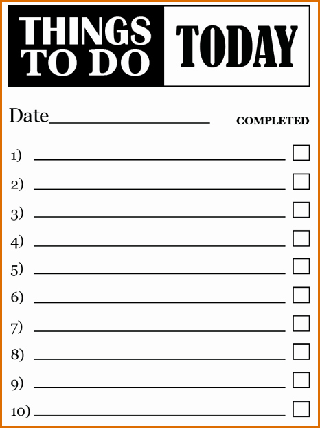 To Do List Template Word Best Of 7 to Do Lists Templates