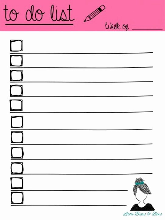 To Do List Template Word Fresh 5 Printable to Do List Templates Word Excel formats