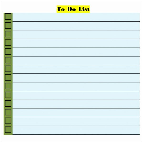 To Do List Template Word Inspirational to Do List Template Word