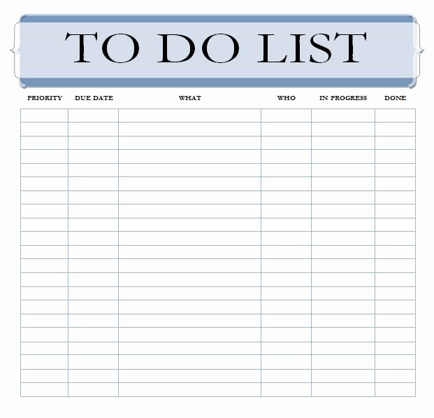 To Do List Template Word Lovely 7 to Do List Templates Word Excel Pdf Templates