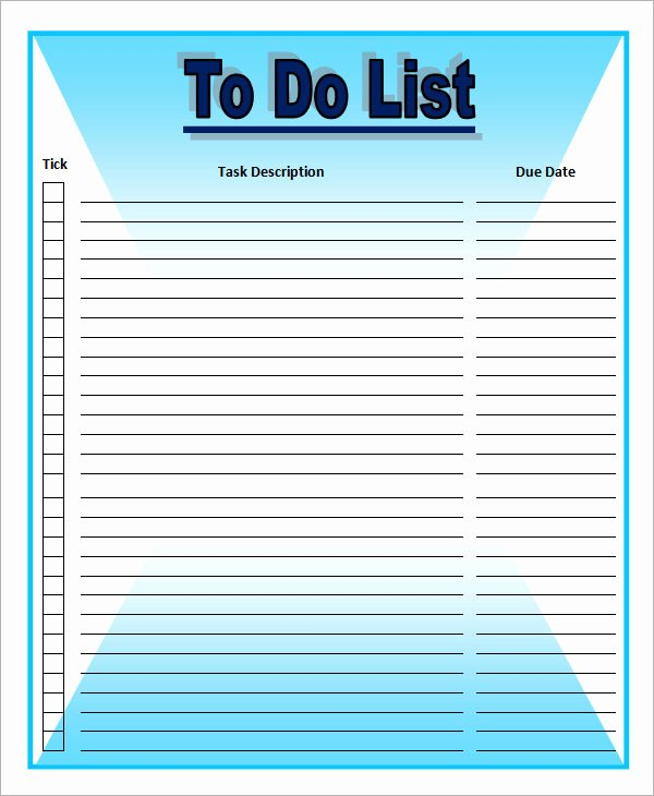 Todo List Template Word Fresh to Do List Template 16 Download Free Documents In Word