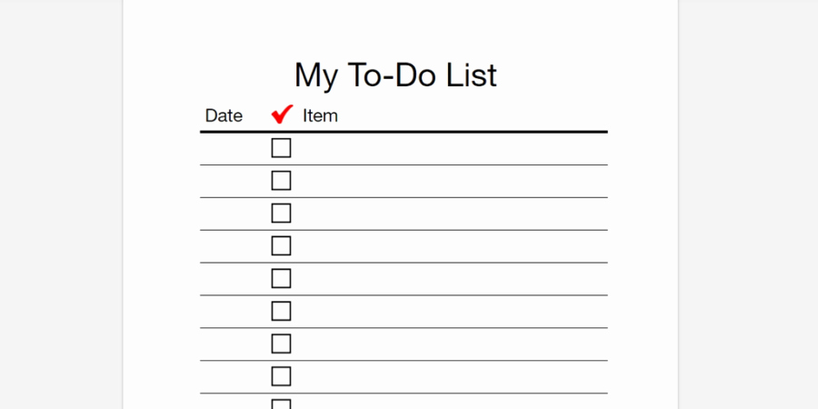 Todo List Template Word Inspirational Every to Do List Template You'll Ever Need