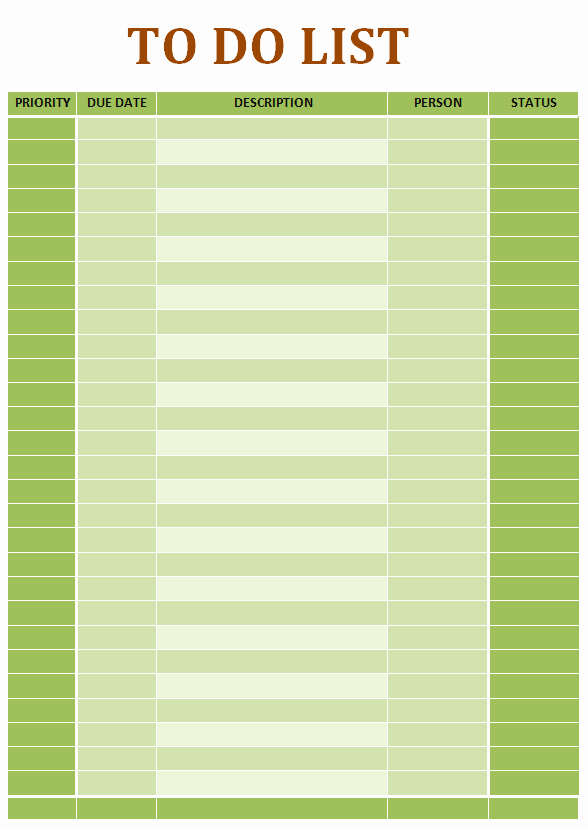 Todo List Template Word Lovely Simple to Do List Ms Word Template