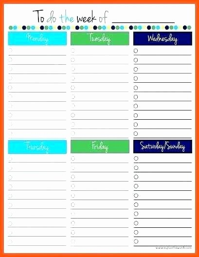 Todo List Template Word Unique Things to Do List Template Pdf Task Word Weekly todo