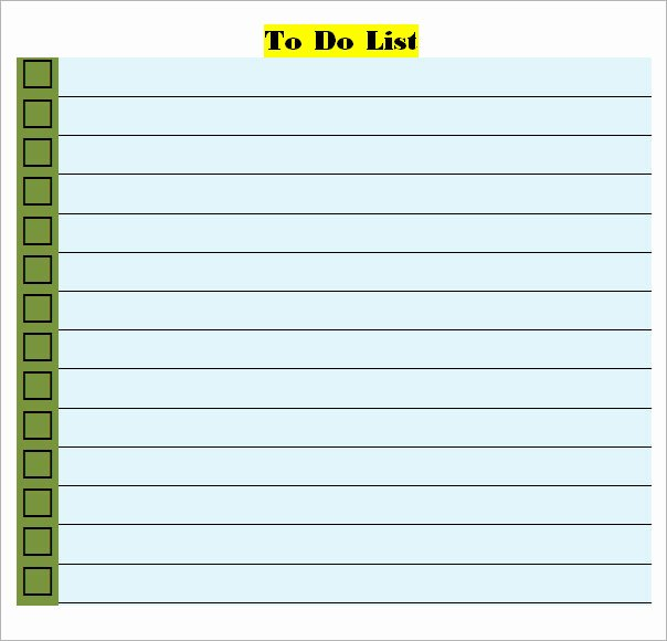 Todo List Template Word Unique to Do List Template 16 Download Free Documents In Word