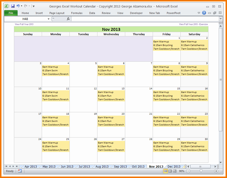 Training Calendar Template Excel Beautiful Excel Template Workout Plan – Eoua Blog
