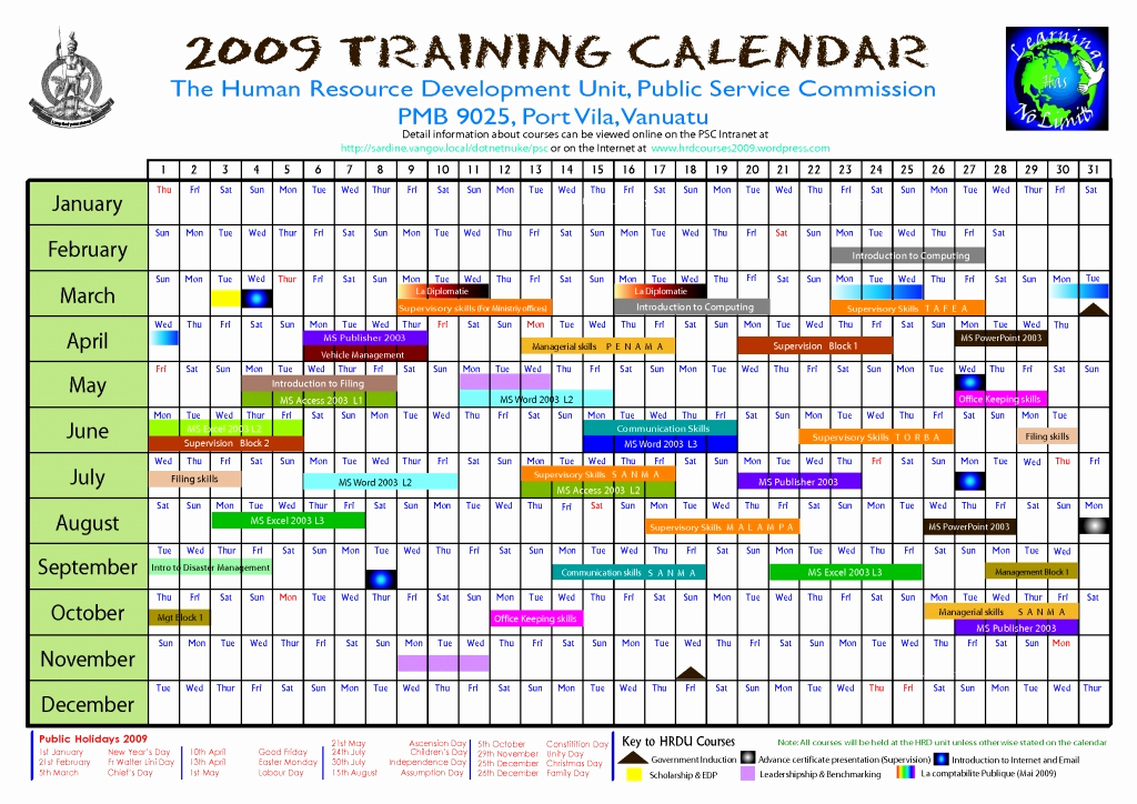 Training Calendar Template Excel Inspirational Safety Training Calendar Template