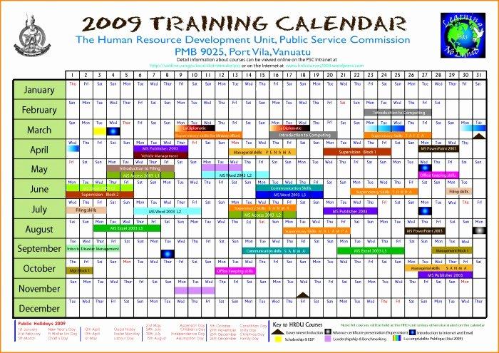 Training Calendar Template Excel Unique Editable Calendar March 2018 Annual Training Calendar