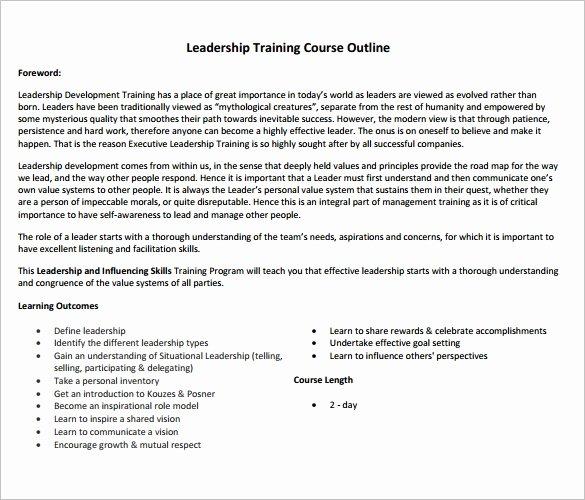 Training Course Design Template Beautiful 14 Training Course Outline Template Doc Pdf